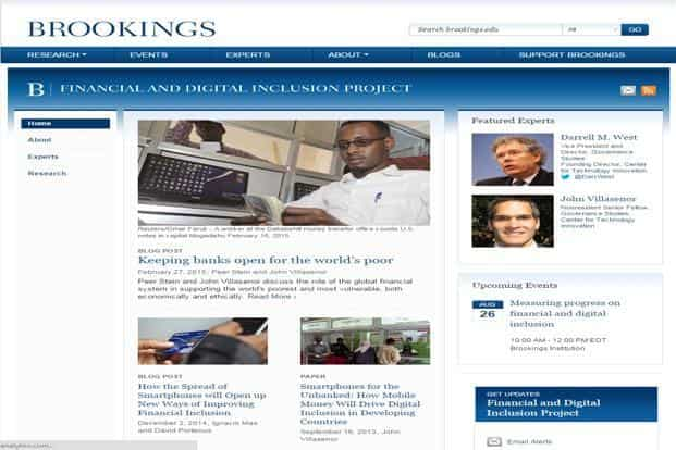 Brookings' experts analysed the financial inclusion landscape in 21 countries.