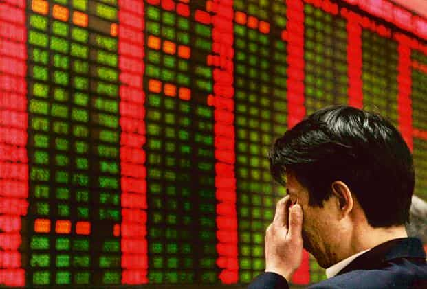 Shanghai Composite Index fell 1.3% to 2,927.29 at the close, after rising as much as 4.3% and declining 3.9%. Photo: AP