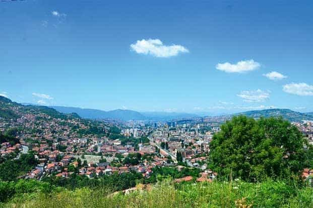 A view of Sarajevo from the hilltop. Photographs by Abhijit Dutta/Mint