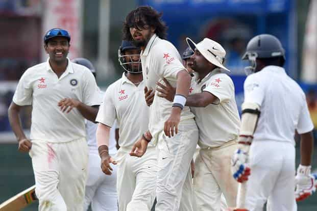Ishant Sharma (centre), who was fined 65% of his match fees for giving send-offs to Lahiru Thirimanne and Dinesh Chandimal in the second test, landed in trouble with the Sri Lankans in the final contest as well. Photo: AFP