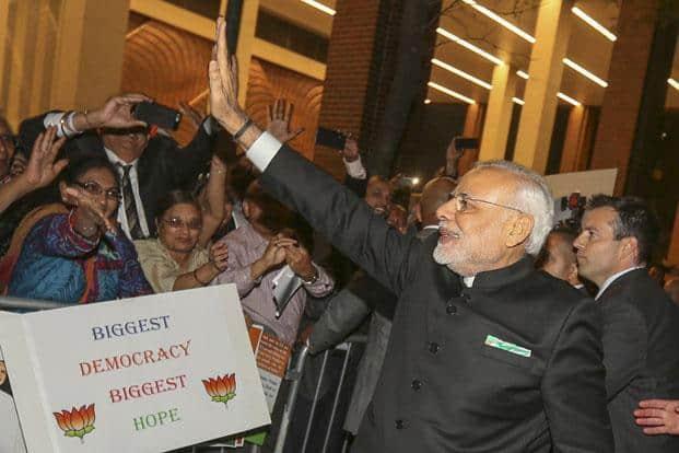 Prime Minister Narendra Modi arrives at his hotel in Manhattan, New York. Photo: Mohammed Jaffer/Reuters