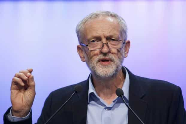 A file photo of the new leader of Britain's opposition Labour Party Jeremy Corbyn addressing the Trade Union Congress in Brighton in England. Photo: Reuters