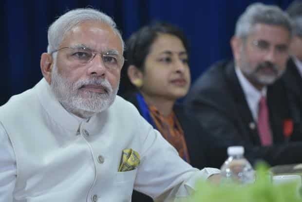 Prime Minister Narendra Modi during a bilateral meeting with US President Barack Obama at the United Nations headquarters on 28 September in New York. Photo: AFP