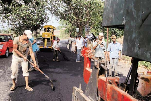 Road construction is the only infrastructure sector where some progress has been seen in the past 12 months, prompting road companies to tap the capital markets for funds. Photo: Hemant Mishra/Mint