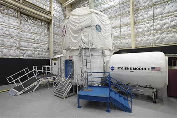 Human Exploration Research Analog habitat at Johnson Space Center in Houston. Nasa, which is contemplating a future journey to Mars, is working with a military laboratory at the submarine base in Groton, Conn., to measure how teams handle stress during month-long simulations of space flight. Photo: AP/Nasa