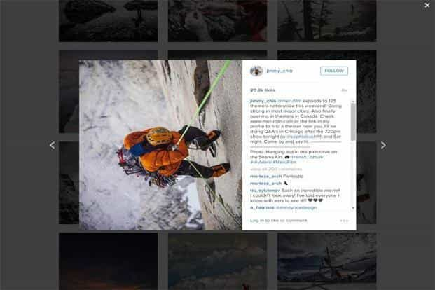 Jimmy Chin's feed is an adventure lover's dream come true