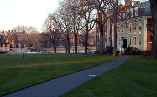 A file photo of the Harvard Business School in Boston. Photo: Bloomberg