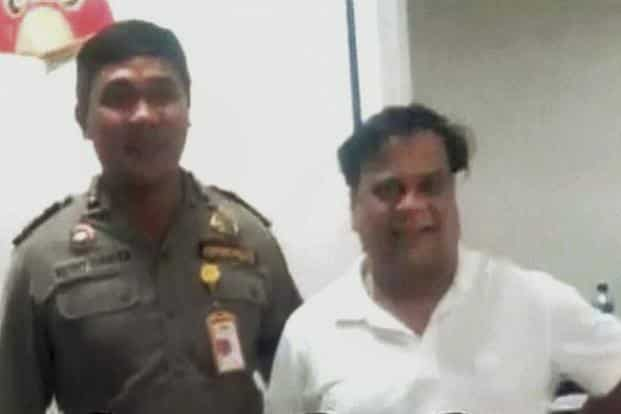 Underworld don Chhota Rajan (right) was caught by Indonesian police in Bali on Sunday. Photo: PTI