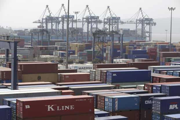 India aims to take exports of goods and services to $900 billion by 2020 and raise the country's share in world exports to 3.5% from 2% now. Photo: Bloomberg