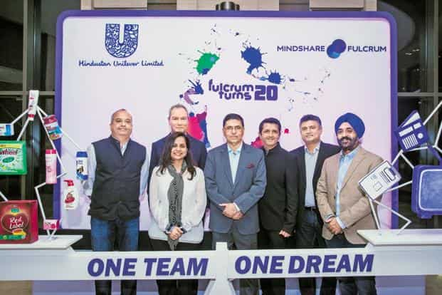 Executives of Mindshare and Hindustan Unilever at the event held to celebrate their partnership. Photo: Aniruddha Chowdhury/Mint