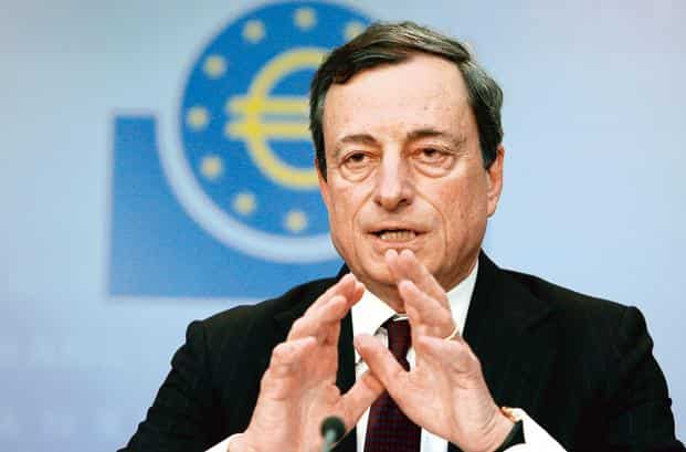 A file photo of president Mario Draghi. Photo: Bloomberg