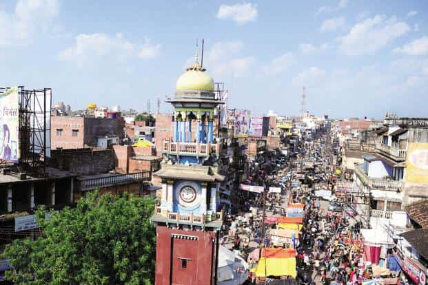 A file photo of the famous clock tower located in the middle of the old city in Allahabad. Photo: AFP