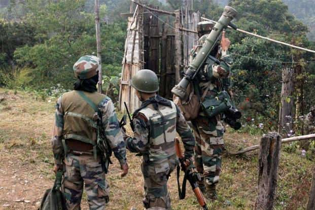 Assam Rifle jawans conduct an operation against NSCN (K) after an encounter at Joyrampur Langkha Village in Changlang district of Arunachal Pradesh. Photo: PTI
