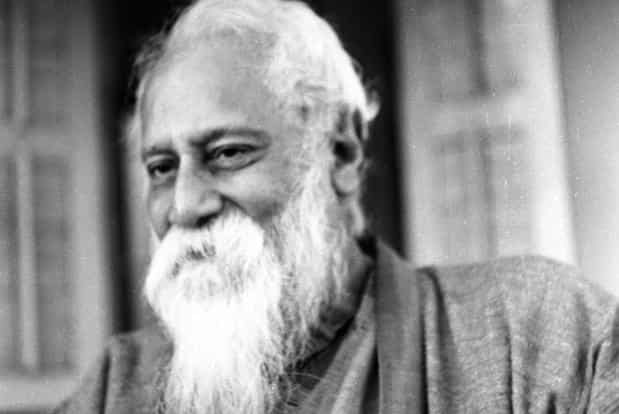A file handout picture dated between 1932 and 1940 shows Bengali poet Rabindranath Tagore in the last years of his life at Santiniketan, north-west of Kolkata. Photo: AFP
