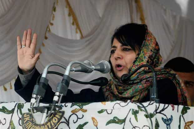 A file photo of Peoples Democratic Party leader Mehbooba Mufti. Photo: PTI