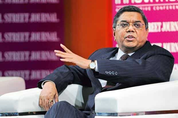 A file photo of Tulsi Tanti, chairman of SuzlonGroup, who said Suzlon is working on integrated renewable energy solutions by combining wind and solar projects at a single location. Photo: Bloomberg