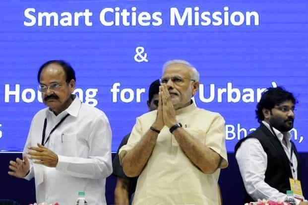 The Smart Cities Mission, a pet project of Prime Minister Narendra Modi, was launched in June 2015 with the government releasing the guidelines and mission statement for the 100 smart cities project. Photo: Mohd. Zakir/HT