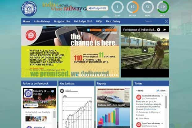d9b998bcde Indian Railways launches micro-site for rail budget