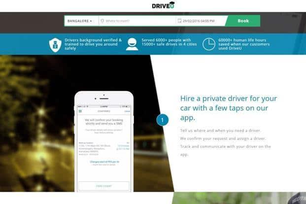A screen grab of DriveU website.
