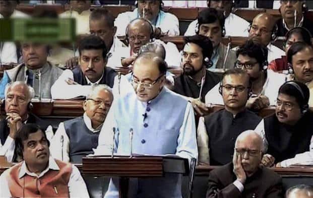 Finance minister Arun Jaitley presenting the Union Budget 2016-17 in the Lok Sabha on Monday. Photo: PTI