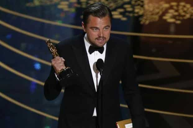 Leonardo DiCaprio spoke on climate change in a perfectly delivered speech. Photo: Reuters