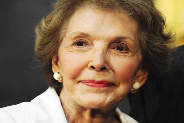 A file photo of former US First Lady Nancy Reagan. As Nancy Davis, she was a Hollywood actress during the 1940s and 1950s and married Reagan in 1952. Photo: AFP