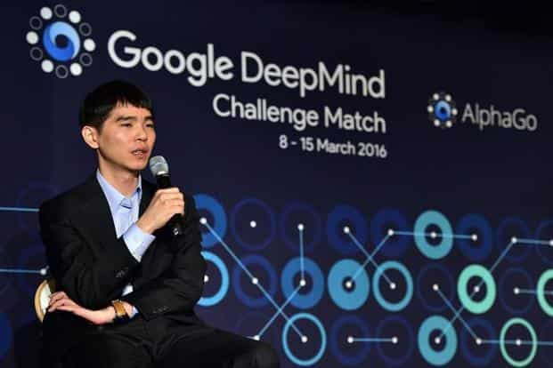 Lee Se-Dol, a legendary South Korean player of Go, after the first game of the Google DeepMind Challenge Match in Seoul. Photo: AFP