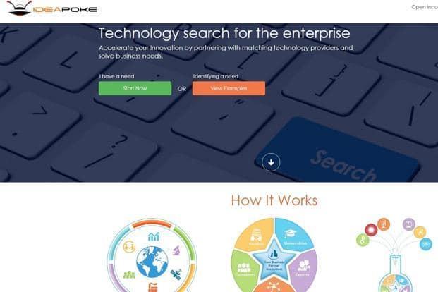 A screen grab of Ideapoke website.
