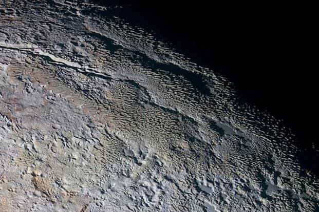 The bladed terrain of Tartarus Dorsa on the dwarf planet Pluto is seen in an undated image from Nasa's New Horizons spacecraft. Photo: Nasa/Reuters
