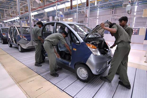 Sanand is one of Tata Motors's six plants in India where the firm manufactures the Nano small car and soon the Tiago hatchback. It has a annual production capacity of 200,000 units. Photo: Abhijit Bhatlekar/Mint