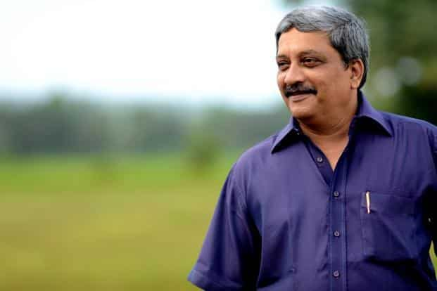 A file photo of Manohar Parrikar, who clarified that 'Make In India' in the defence sector and DefExpo are two different things. Photo: Rakesh Mundye/HT
