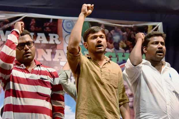 A file photo of JNU students' union president Kanhaiya Kumar in Hyderabad on Thursday.  Photo: PTI