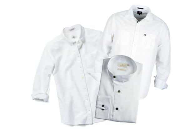 Jazz up your white shirt with buttons in contrasting colours.