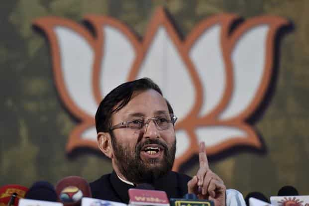 "File photo. ""There are some municipal areas in the country which already charge people for waste management. The new rules gives powers to local bodies across India to decide the user fees,"" said Union environment minister Prakash Javadekar. Photo: PTI"
