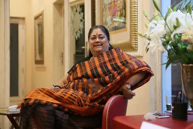 Rajasthan chief minister Vasundhara Raje. Photo: Hindustan Times