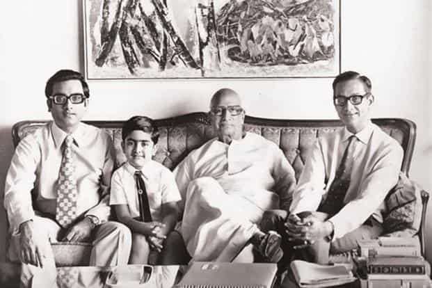 (From left) Aditya Birla, Kumar Mangalam Birla, G.D. Birla and B.K. Birla. Kumar Mangalam Birla was just 28 when he took control of the conglomerate in 1995 after his father's death. Photo: Birla Archives