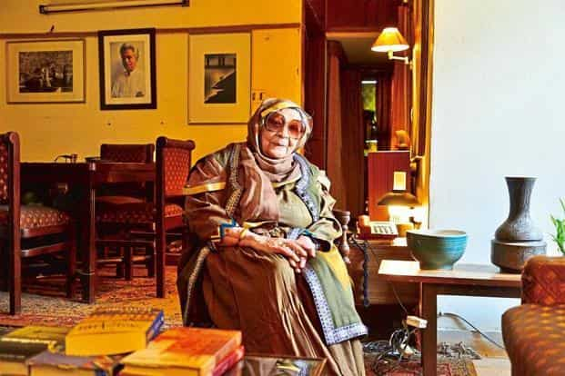 Krishna Sobti at her residence in Delhi. Photo: Priyanka Parashar/Mint