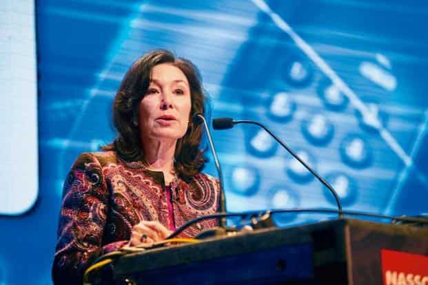A file photo of Safra Catz, who joined Oracle in 1999 as a senior vice president, and was named co-CEO of the database company in 2014 after serving as co-president and CFO. Photo: Mint