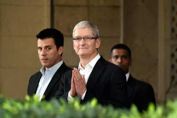 """Without revealing details, Tim Cook said the company would """"introduce"""" more universities and partners around Hyderabad to Apple's platforms as the company scales its operations. Photo: PTI"""