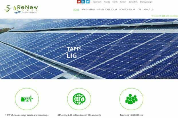 ReNew Power had last year put on hold its plan to look at an IPO, months after saying it would consider going public. Photo:
