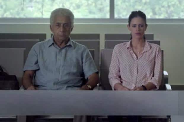 Naseeruddin Shah and Kalki Koechlin in a still from 'Waiting'.