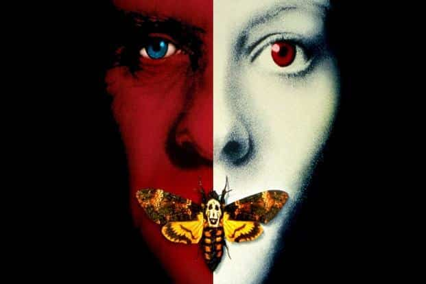 The poster of the movie, The Silence of the Lambs, which won all the five big awards—best film, best director, best actor, best actress, and best adapted screenplay, at the 1992 Oscars.