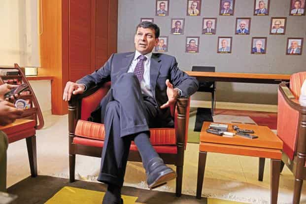 Reserve Bank of India Governor Raghuram G Rajan during quarterly interest rate review briefing at the RBI headquarters in Mumbai. Photo: Abhijit Bhatlekar/ Mint