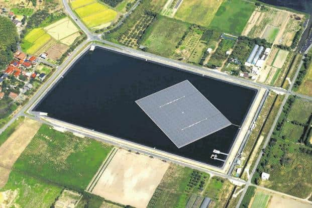 Floating solar platforms can be used in areas where land is at a premium.