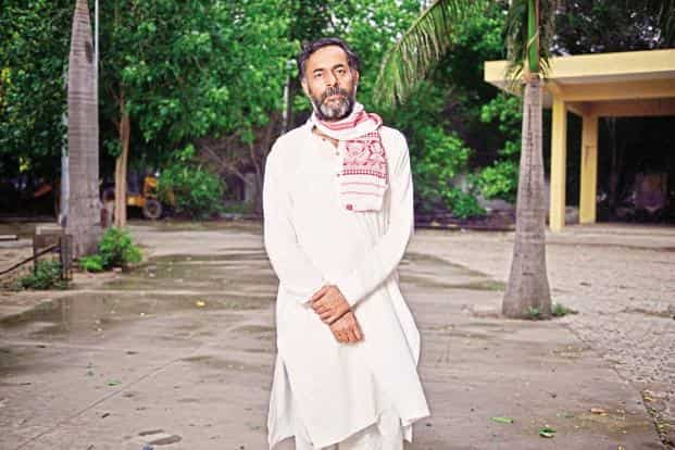 Yogendra Yadav, co-founder of the Swaraj Abhjiyan, recently toured the drought-affected parts of India. Photo: Pradeep Gaur/Mint