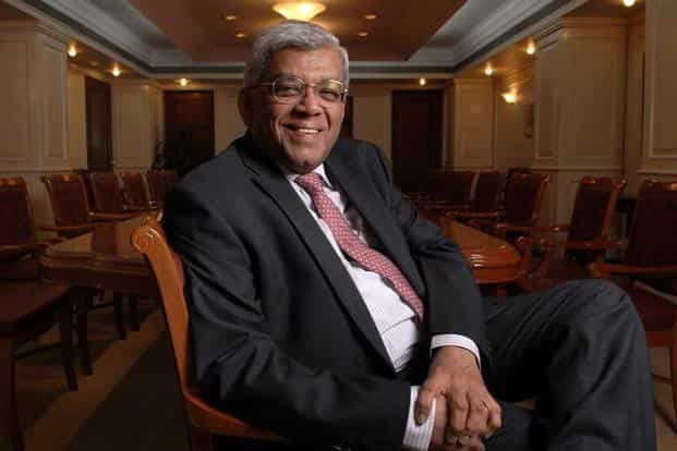 A file photo of HDFC chairman Deepak Parekh. HDFC, in a separate statement to the exchanges, confirmed that it was entering exclusive talks for a possible merger. Photo: Abhijit Bhatlekar/Mint