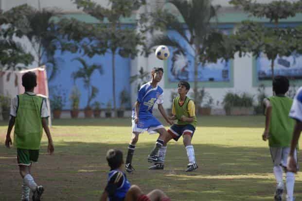 'Mission 11 Million'—which will start with a launch in 30 Indian cities in October 2016—aims to engage more than 11 million children in football-related activities. Photo: Abhijit Bhatlekar/Mint