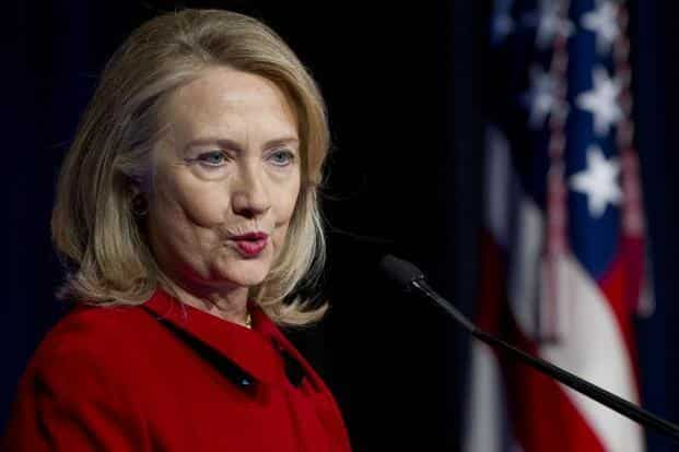Hillary Clinton says it makes no sense for the US to invest in the education of some of the world's smartest people. Photo: AFP
