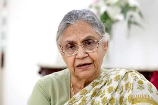 Former Delhi chief minister Sheila Dikshit says the charges are 'politically motivated'. Photo: Hindustan Times
