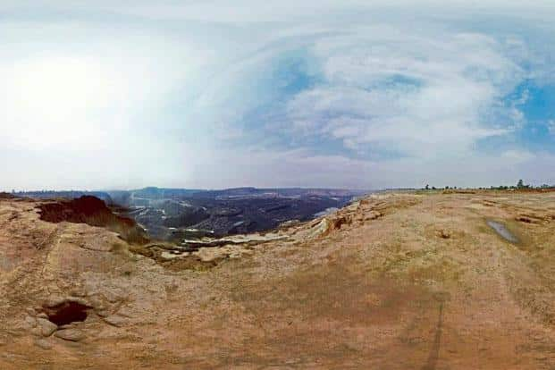 A panorama in the VR film 'Cost Of Coal'